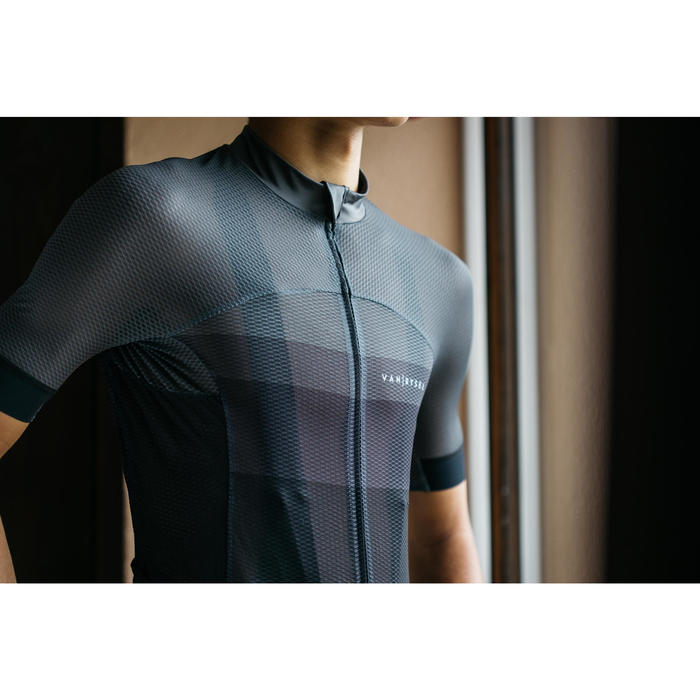 MAILLOT ULTRALIGHT VELO ROUTE ETE VAN RYSEL CYCLOSPORT GRIS