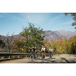 Fahrradtrikot kurzarm Rennrad RR 900 Team Mesh Herren weiß