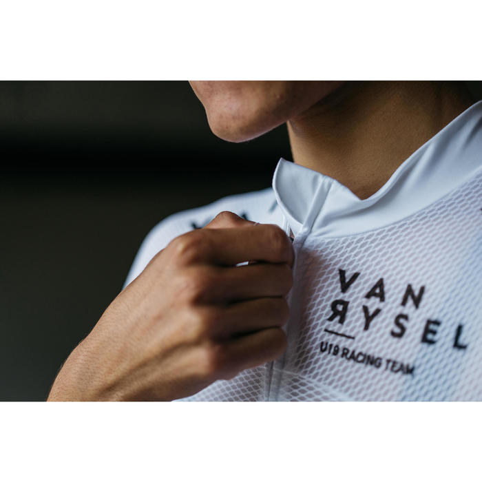 MAILLOT ULTRALIGHT VELO ROUTE ETE VAN RYSEL CYCLOSPORT BLANC