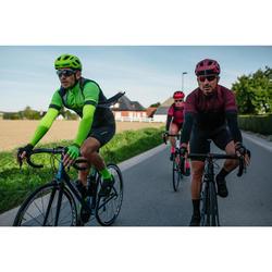 Radtrikot kurzarm Rennrad RR 500 Herren gelb/grün