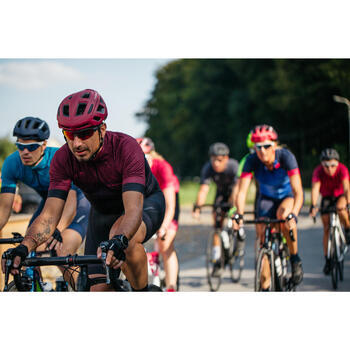 Road Sport Cycling Summer Jersey - Burgundy