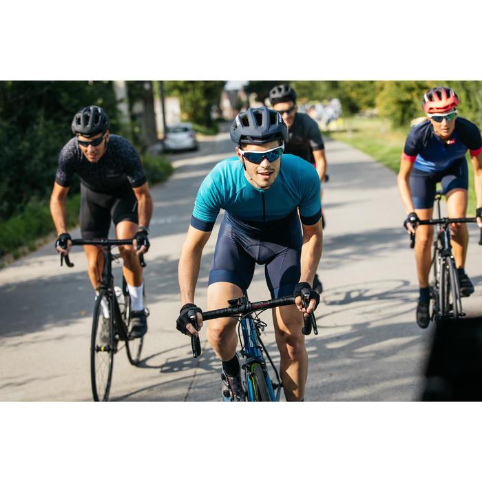 Radtrikot kurzarm Rennrad RR 500 Herren blau/türkis