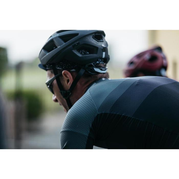 Radtrikot kurzarm Rennrad RR 500 Herren grau/schwarz