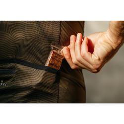 Wielershirt RR500 korte mouwen voor heren bruin/zwart