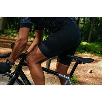 Kurze Radhose mit Trägern Rennrad RR 500 Herren schwarz