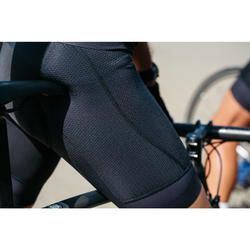 Kurze Fahrrad-Trägerhose Rennrad RR 900 Herren schwarz