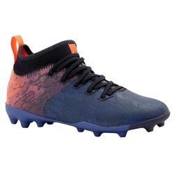 Kids' Mixed Ground Football Boot Agility 900 MG - Blue/Orange