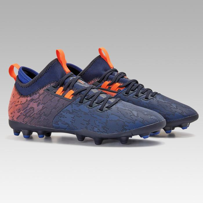 Agility 900 Mid MG Adult Dry Pitch Football Boots - Blue/Orange