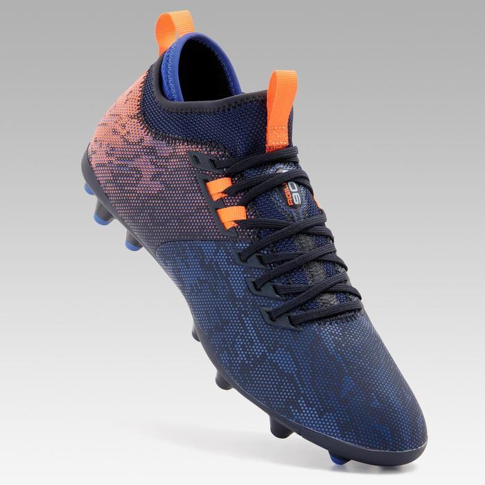 成人款中筒乾地足球鞋Agility 900 MG-藍色/橘色