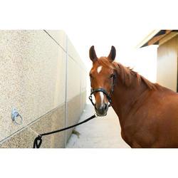 Cabestro Cuero Equitación Fouganza PERFORMER Negro/Azul Poni y Caballo