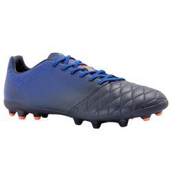成人款皮革MG鞋底球硬地足球鞋Agility 540 MG-午夜藍
