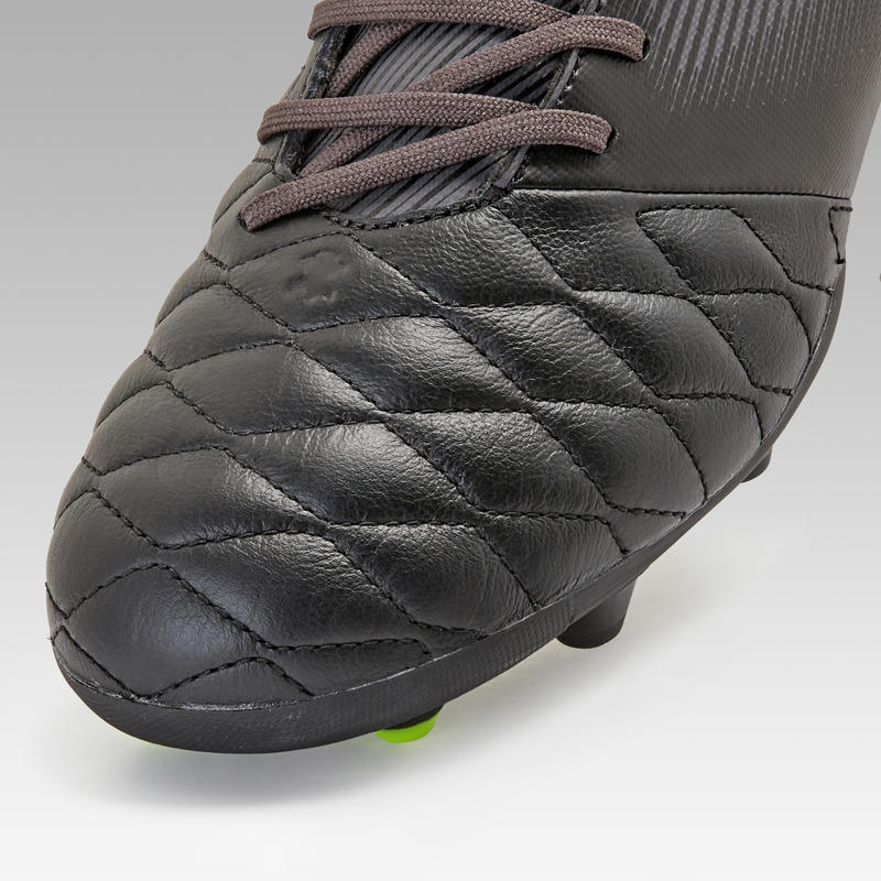 Agility 540 MG Adult Dry Pitch Leather Football Boots - Black
