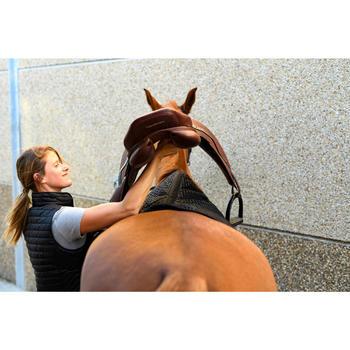Zadeldek 580 ruitersport paard en pony zwart