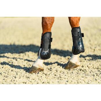 Open peesbeschermers voor paarden 500 Jumping zwart