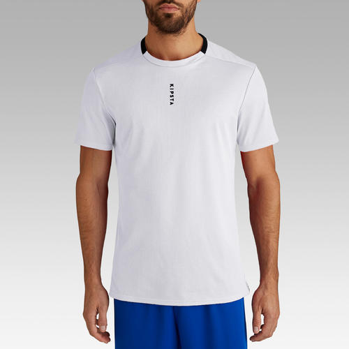 MAILLOT DE FOOT ADULTE F100 BLANC