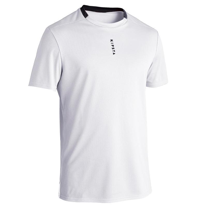 Camiseta de Fútbol Kipsta F100 adulto Blanco