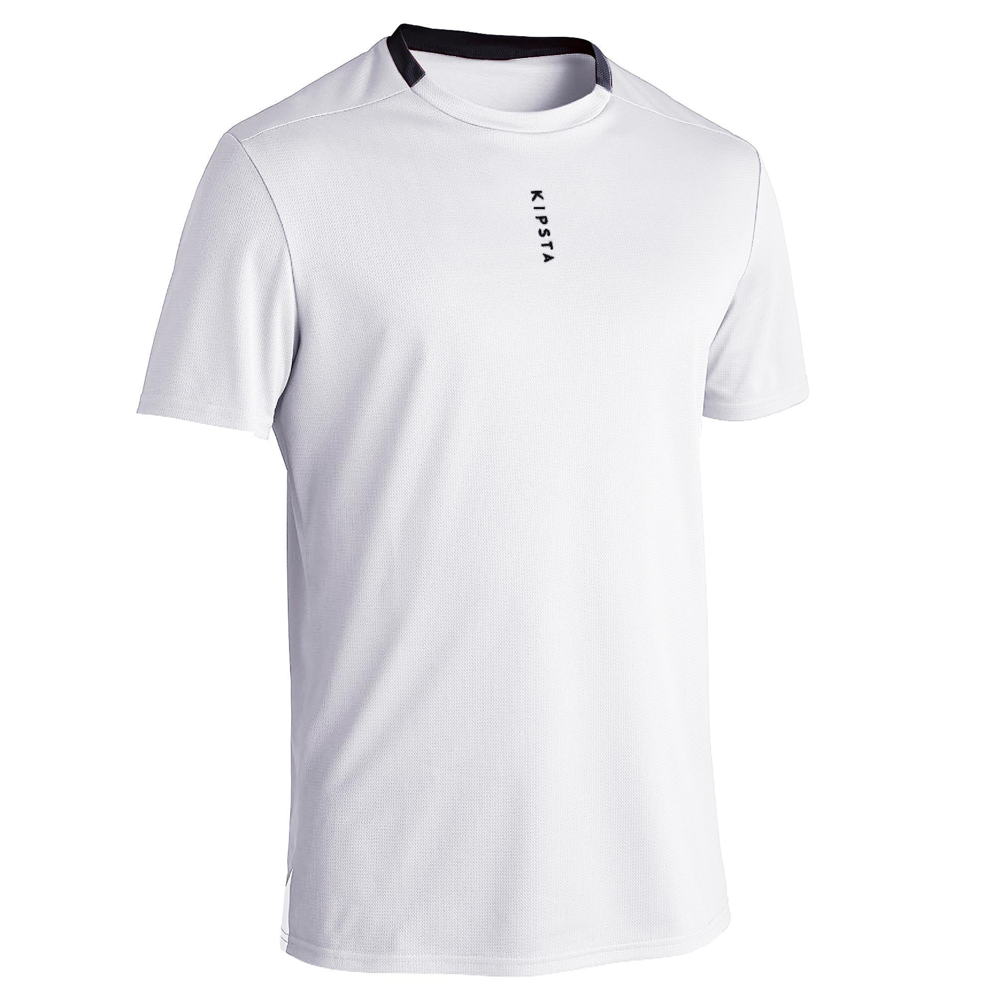Fussballtrikot F100 Ecodesign Damen/Herren weiss