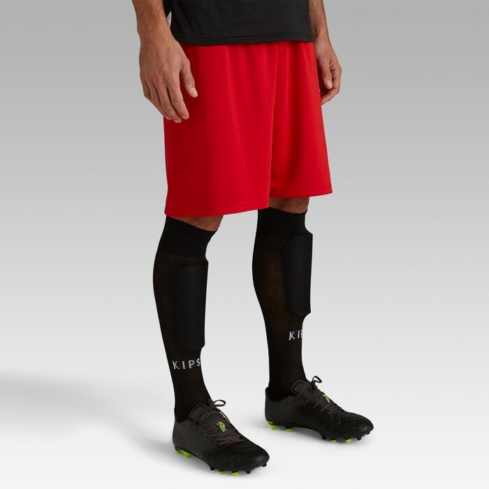 Pantalón corto de fútbol para adulto F100 rojo