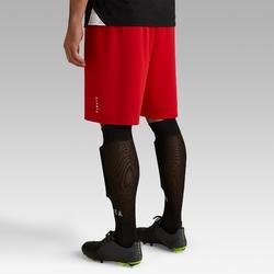 Pantalón corto de Fútbol adulto Kipsta F100 rojo