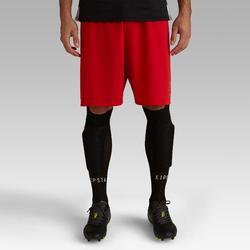Voetbalshort F100 voor volwassenen rood