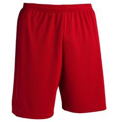 Voetbalshort voor volwassenen F100 milieuvriendelijk rood