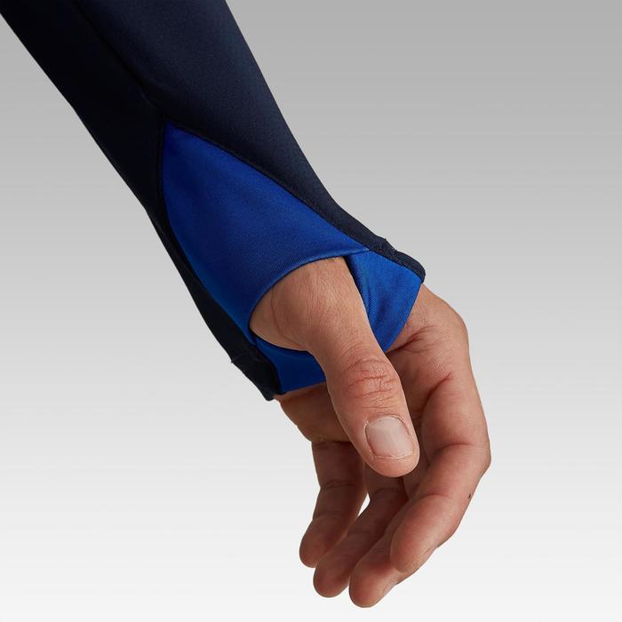 Sweater met halve rits voor volwassenen T500 blauw