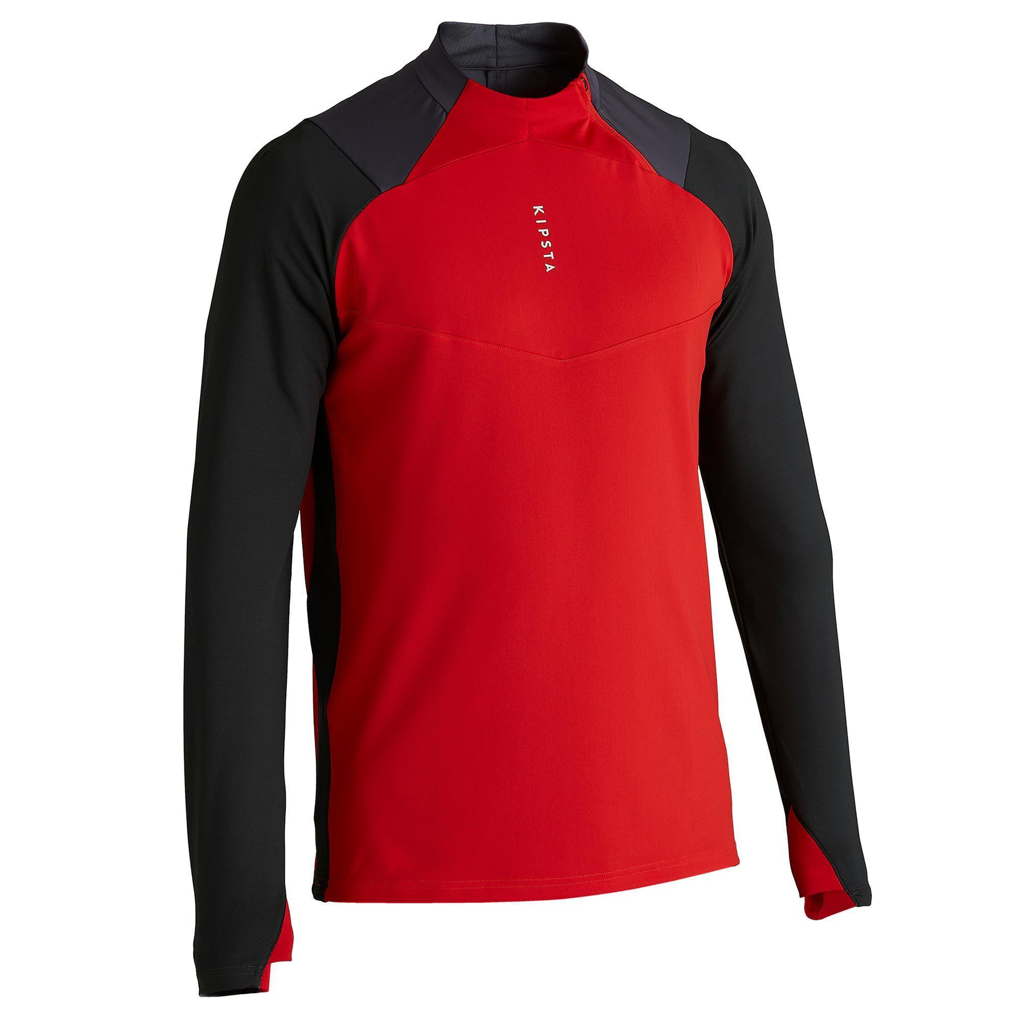 Kipsta Sweater met halve rits voor volwassenen T500