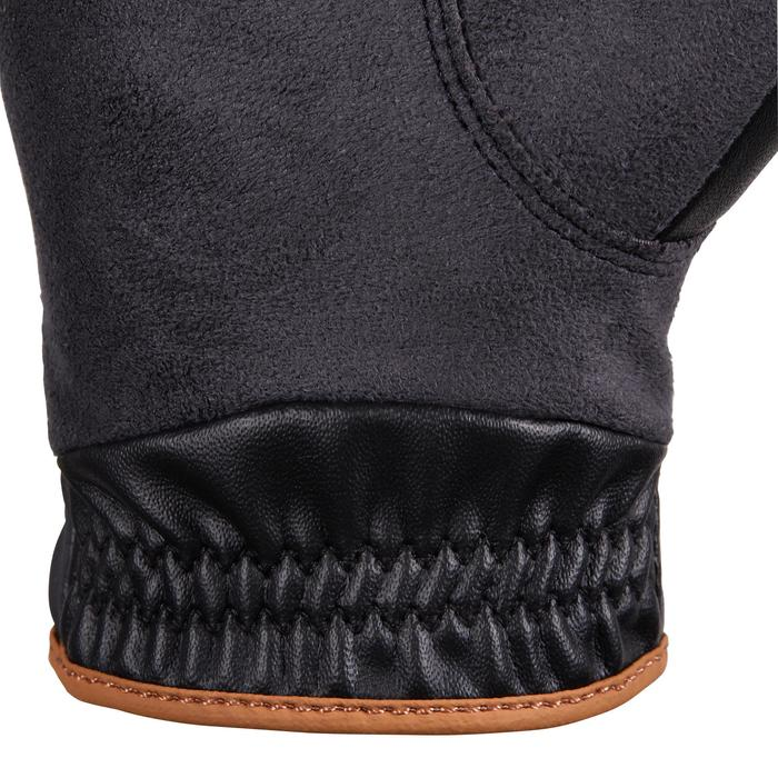 Handschoenen paardrijden heren 500 zwart, grijs en camel