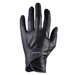 500 Horse Riding Gloves - Black