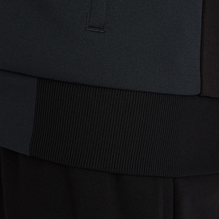 Fußball-Trainingsjacke T100 Erwachsene schwarz