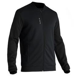 T100 Adult Light Soccer Jacket - Carbon Black