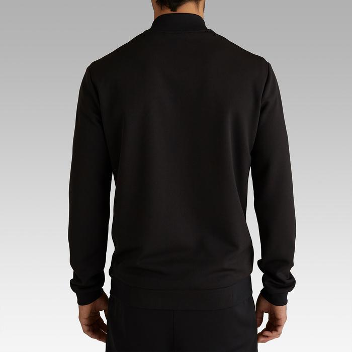成人款輕量足球外套T100-炭黑色