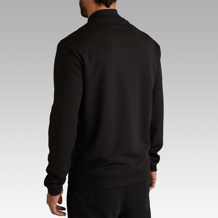 Trainingsjacke leicht Fussball T100 Erwachsene schwarz