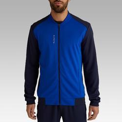Trainingsjacke leicht Fussball T100 Erwachsene blau