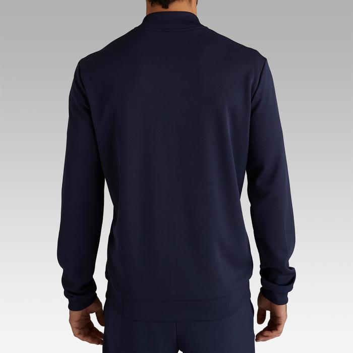 Chaqueta Ligera Fútbol Kipsta Veste T100 PE19 Adulto Negro Azul