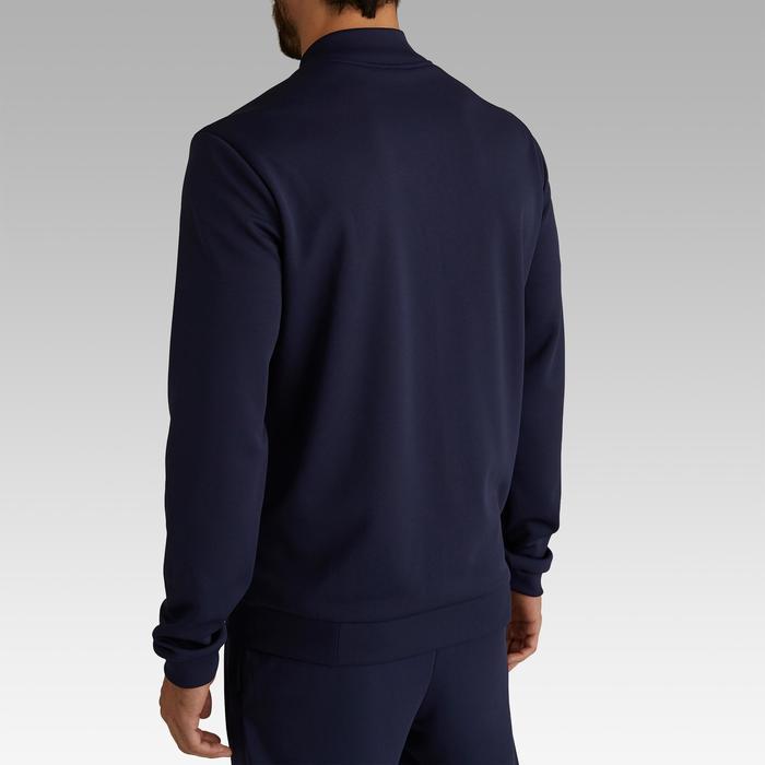 Veste de football légère adulte T100 bleue