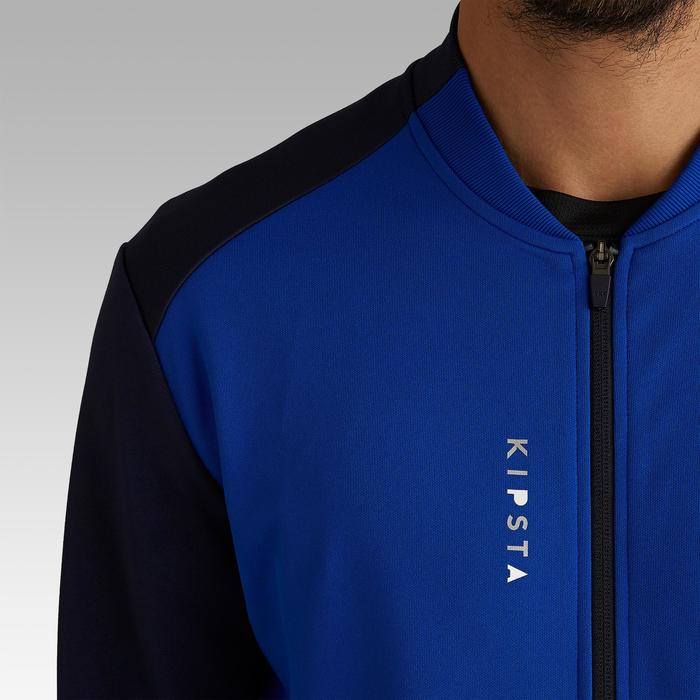 Veste de football légère adulte T100 bleue