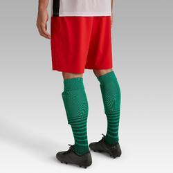 Short de football adulte F500 rouge