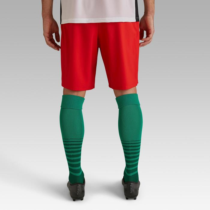 Voetbalshort F500 voor volwassenen rood