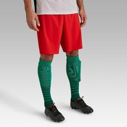 成人款足球短褲F500-紅色