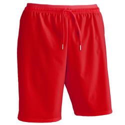Pantalón corto de Fútbol adulto Kipsta F500 rojo