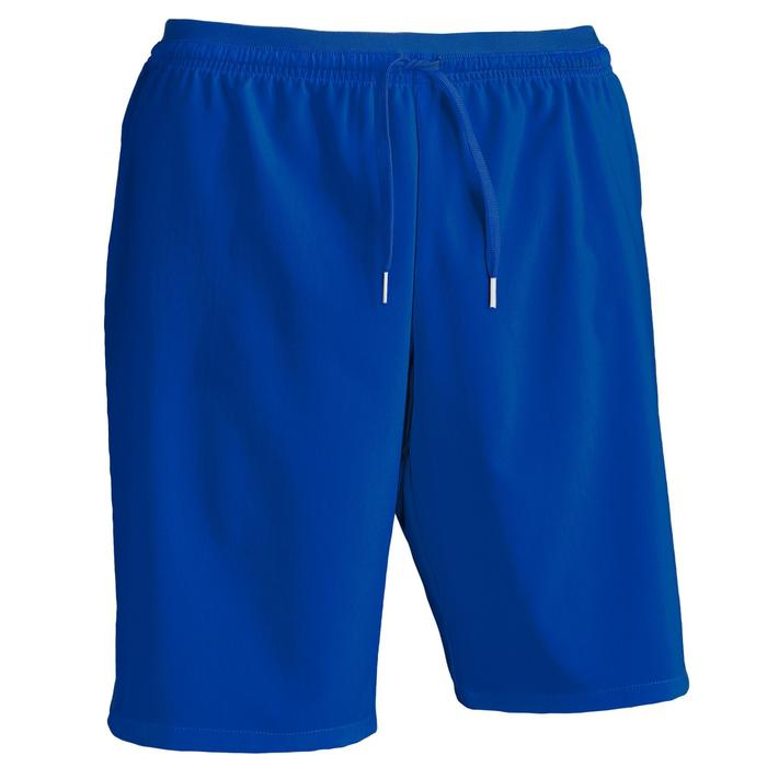 Short de football adulte F500 bleu