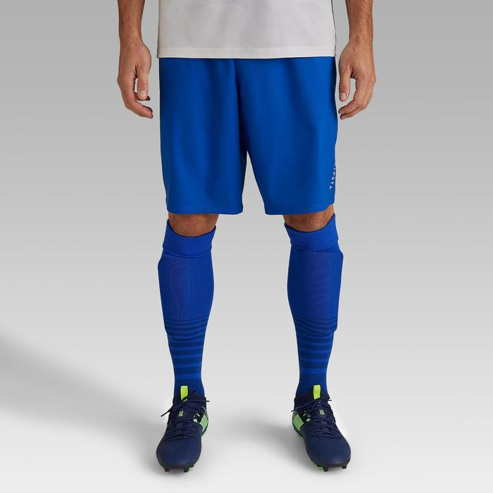Fußballshorts F500 Erwachsene blau