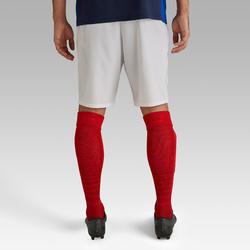 成人款足球短褲F500-白色