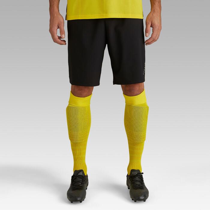 Voetbalshort voor volwassenen F500 zwart