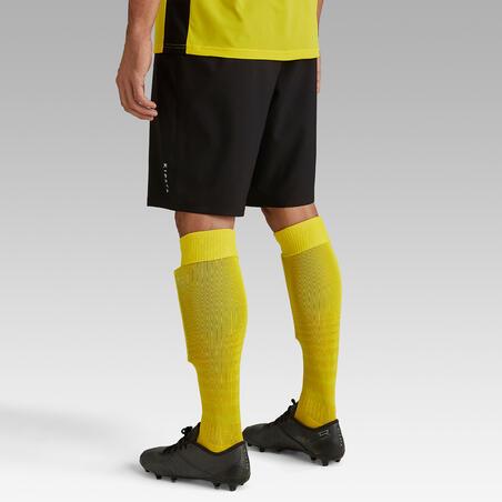 Short de fútbol adulto F500 negro