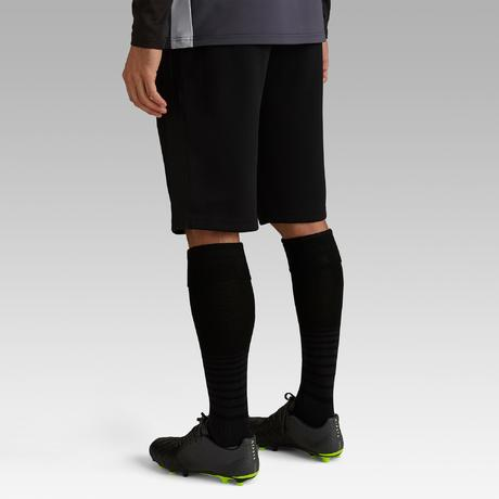 823b37f4d6 Short de football long adulte T500 noir carbone | Kipsta by Decathlon
