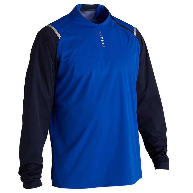 Coupe vent de football imperméable adulte T500 bleu
