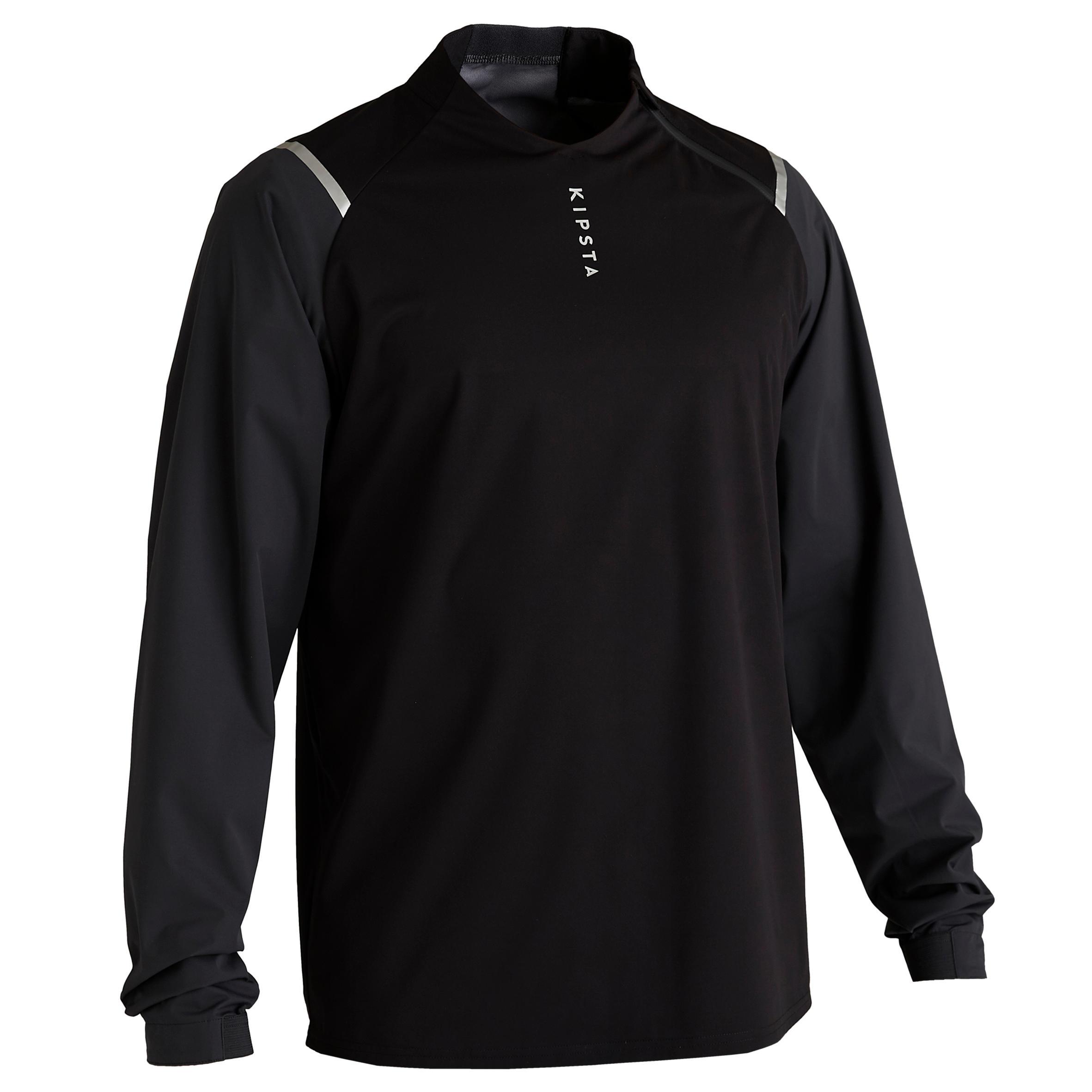 Sweatshirt T500 wasserdicht Erwachsene schwarz