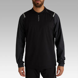 Rompevientos de fútbol impermeable adulto T500 negro carbono